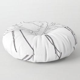 Ink and Ballet 3 Floor Pillow