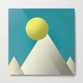 Abstract Sunrise at the Mountains Metal Print
