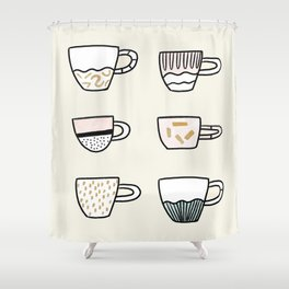 Cups cups cups Shower Curtain