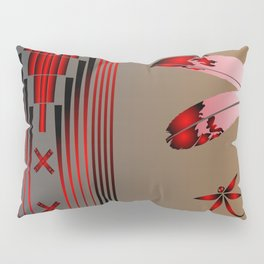 Dragonfly (Red) Pillow Sham