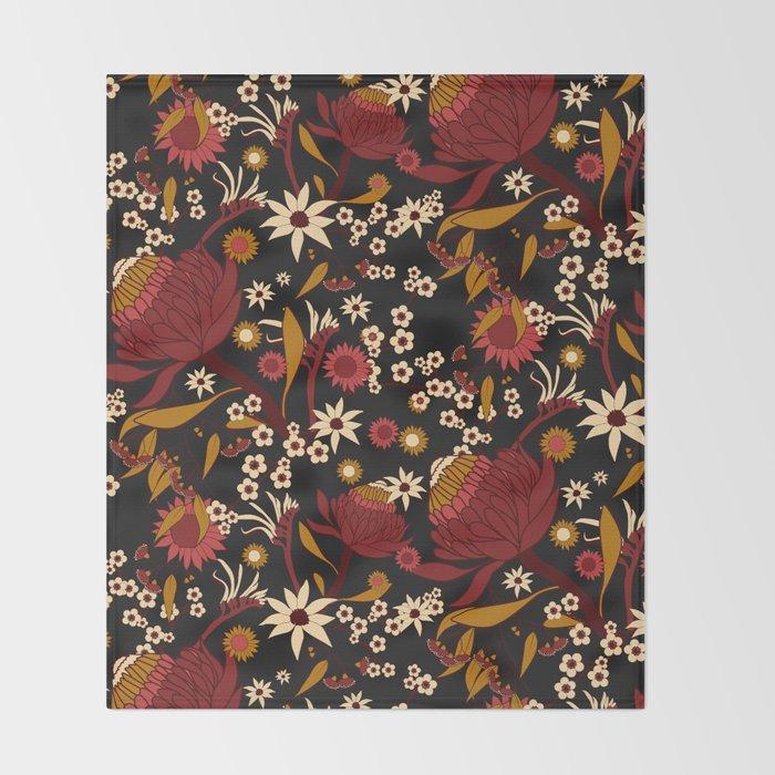 Australian Natives Red Blossom Throw Blanket By Harleyandj Society40 Gorgeous Red Throw Blanket Australia