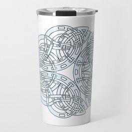 Abstract Celtic Design Silver Travel Mug