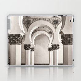 The Historic Arches in the Synagogue of Santa María la Blanca, Toledo Spain Laptop & iPad Skin