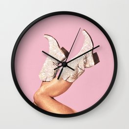 These Boots - Glitter Pink Wall Clock