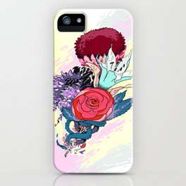 Chrysanth Wisteria & Lily - & Rose  iPhone Case