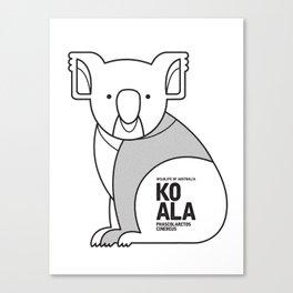 Koala, Wildlife of Australia Canvas Print