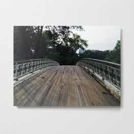 Old wooden bridge (Central Park) Metal Print