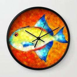 Esperimentoza - gorgeous fish Wall Clock