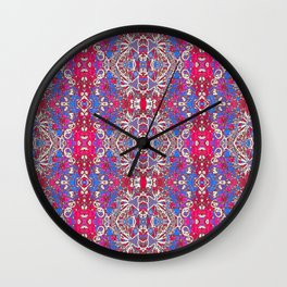 Colorful Ornate Decorative Pattern Wall Clock