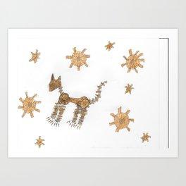 macanical cat Art Print