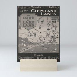 plakater Gippsland Lakes voyage poster Mini Art Print