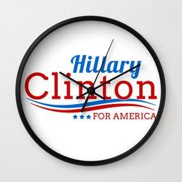 Hillary Clinton for America Wall Clock