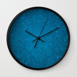 Cerulean Blue Sparkling Jewels Pattern Wall Clock