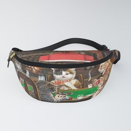 Cats Playing Poker Fanny Pack