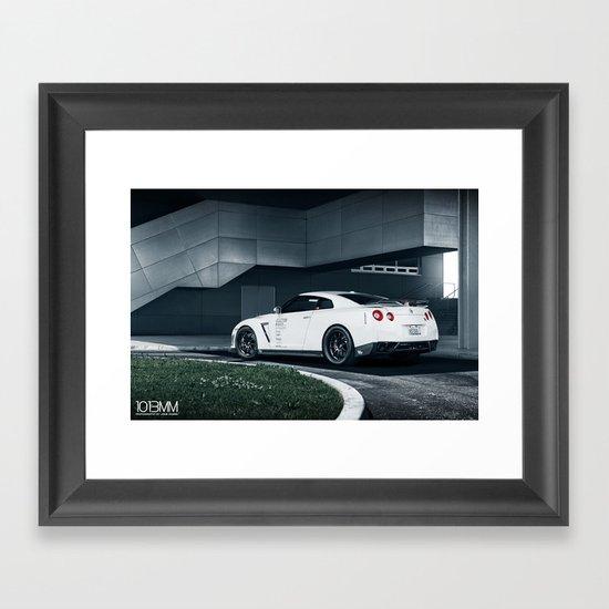 Nissan GT-R Framed Art Print
