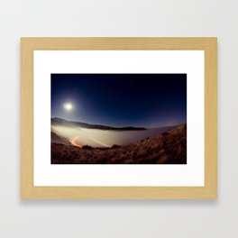 it's cold up here Framed Art Print