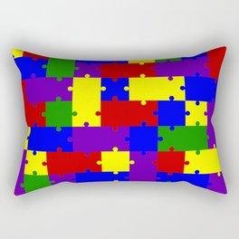 Colorful puzzle Rectangular Pillow