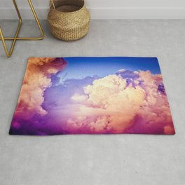 Towers Of Pink Cumulus Clouds In The Summer Sky At Sunset Rug