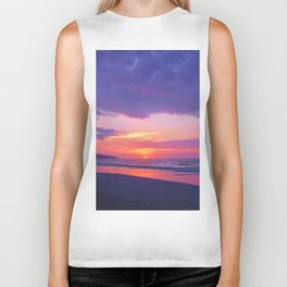 Broken sunset by #Bizzartino Biker Tank