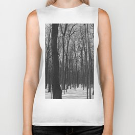 Trees in the forest Biker Tank