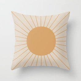 Minimal Sunrays Throw Pillow