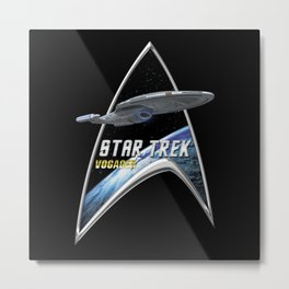 StarTrek Command Silver Signia Voyager 2 Metal Print