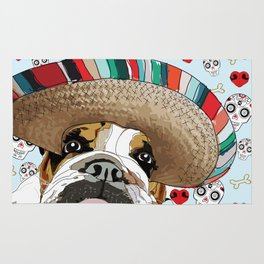 Cinco de Bulldog Rug