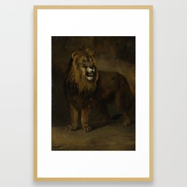 A Lion from the Menagerie of King Louis Napoleon, 1808, Pieter Gerardus van Os, 1808 Framed Art Print