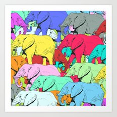 Elephants Parade Art Print