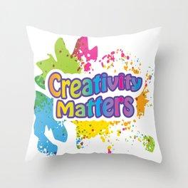 Creativity Matters Throw Pillow