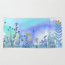 Blue Garden II Beach Towel
