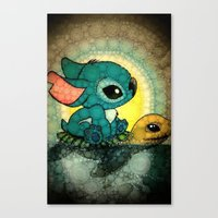 stitch Canvas Prints featuring Stitch by NORI