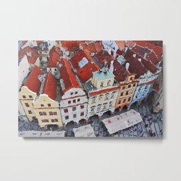 Prague Streets, Czech Republic  Metal Print