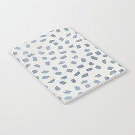 Simply Ink Splotch Indigo Blue on Lunar Gray Notebook