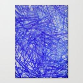 Ophelia Blue Scribble Canvas Print