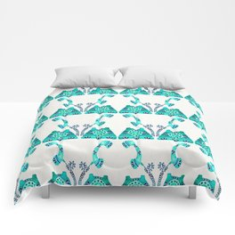 Vintage Rotary Phone – Turquoise Palette Comforters