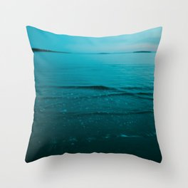 Summer of Love at the Beach Throw Pillow