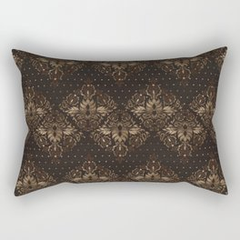 Persian Oriental pattern wood and gold Rectangular Pillow