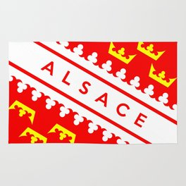 alsace province france country flag name text region Rug