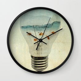 blue sea thinking Wall Clock