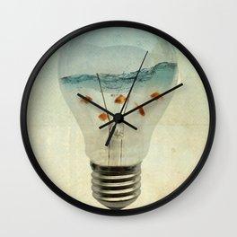 blue sea thinking Wall Clock