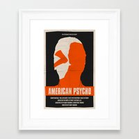 american psycho Framed Art Prints featuring American Psycho by Bill Pyle