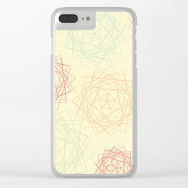 Origami Blooms Clear iPhone Case