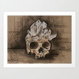Crystal Skull Sketch Art Print