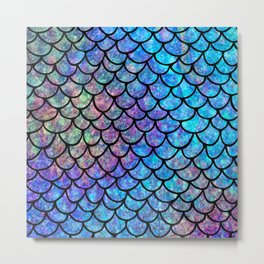 Colorful Mermaid Scales Metal Print