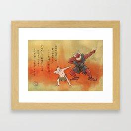 Dabbing with demons Framed Art Print