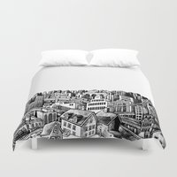 cityscape Duvet Covers featuring Cityscape by Nip Rogers