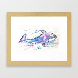 Orca in colors Framed Art Print