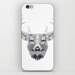 Boho poly deer iPhone Skin