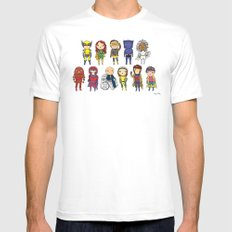 Super Cute Heroes: X-Men White Mens Fitted Tee LARGE